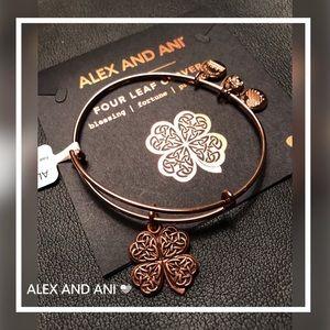🆕Alex & Ani 4 Leaf Clover Bangle Bracelet